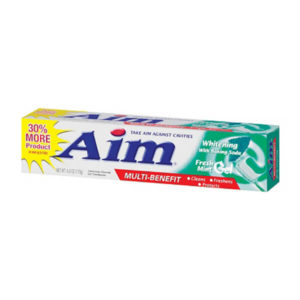 24 Pack Aim Toothpaste Gel Whitening 6 oz
