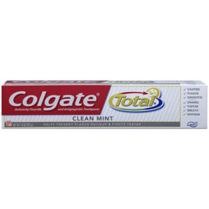 24 Pack Colgate Total Toothpaste, Clean Mint Paste 7.8 oz