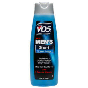 6 Pack VO5 Mens 3-IN-1 Shampoo, Conditioner & Body Wash, Ocean Surge 12.5 oz